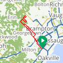 Map image of a Route from March 13, 2020