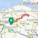 Map image of a Route from May 10, 2020