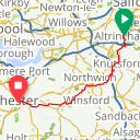 Map image of a Route from September  4, 2013