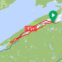 Map image of a Route from September  6, 2013