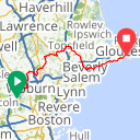 Map image of a Route from September 27, 2013