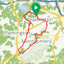Map image of a Route from November  6, 2020