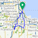 Map image of a Route from October 13, 2013