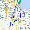 Map image of a Route from October 14, 2013