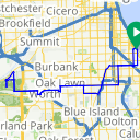 Map image of a Route from October 18, 2013