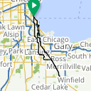 Map image of a Route from October 30, 2013