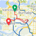 Map image of a Route from November  3, 2013