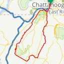 Map image of a Route from November  8, 2013