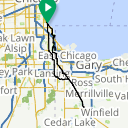 Map image of a Route from November 14, 2013