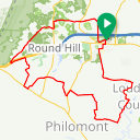 Map image of a Route from December  2, 2013