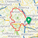 Map image of a Route from December 31, 2013