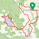 Map image of a Route from January 14, 2014