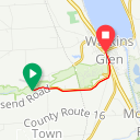 Map image of a Route from January 21, 2014