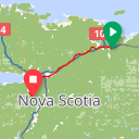 Map image of a Route from May  4, 2011