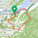 Map image of a Route from February  2, 2014