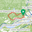 Map image of a Route from February  4, 2014