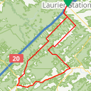Map image of a Route from February  6, 2014