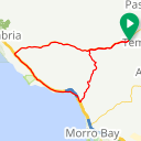 Map image of a Route from February  9, 2014