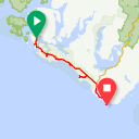 Map image of a Route from February 15, 2014