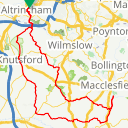 Map image of a Route from March  5, 2014