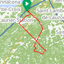Map image of a Route from March 15, 2014