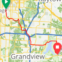Map image of a Route from March 23, 2014