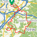 Map image of a Route from March 30, 2014