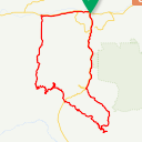 Map image of a Route from April  5, 2014