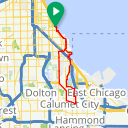 Map image of a Route from April  9, 2014