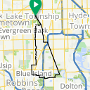 Map image of a Route from May 14, 2014