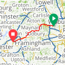Map image of a Route from May 18, 2014