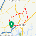 Map image of a Route from May 25, 2014