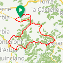 Map image of a Route from May 27, 2014