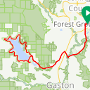 Map image of a Route from June  2, 2014
