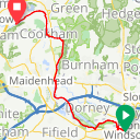 Map image of a Route from June  4, 2014