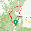 Map image of a Route from June 17, 2014