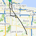 Map image of a Route from June 24, 2014