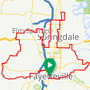 Map image of a Route from June 28, 2014