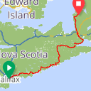 Map image of a Route from June 29, 2014