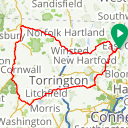 Map image of a Route from July  3, 2014