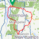Map image of a Route from July 13, 2014