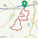 Map image of a Route from July 15, 2014