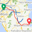 Map image of a Route from July 17, 2014