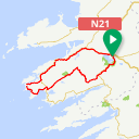Map image of a Route from July 26, 2014
