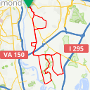 Map image of a Route from July 29, 2014