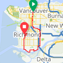 Map image of a Route from July 31, 2014