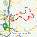 Map image of a Route from August  1, 2014