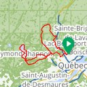 Map image of a Route from August  7, 2014