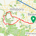 Map image of a Route from August 11, 2014