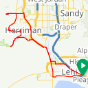 Map image of a Route from August 13, 2014